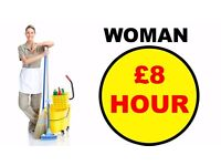 CLEANER Woman - **Only interested in job, NOTHING ELSE**