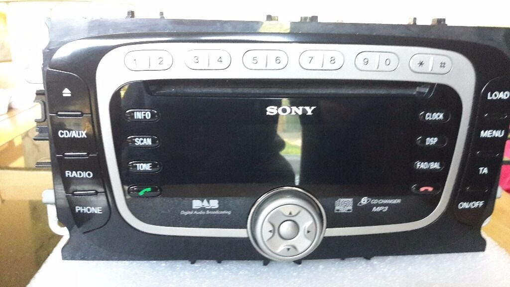 ford mondeo mk4 sony mp3 6 disc car radio cd player in. Black Bedroom Furniture Sets. Home Design Ideas