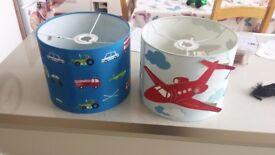 2 x children's lightshades/lampshades