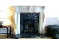 Faux marble fire surround