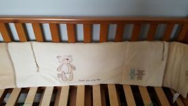 Bear cot bumper and quilt for sale