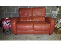 Leather Sofa 1 piece flawless condition