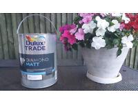 Dulux Trade Paint Diamond MATT super durable ''Pure Brilliant White ''