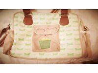 Green yummy mummy changing bag