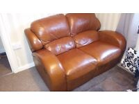 ((((((((((((BARGAIN BARGAIN TWO BED SOFAS ONE BLACK AND BROWN RECLINER ))))))