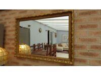 Large Vintage Style Gold Gilt Ornate Wall Mantel Mirror 86cm x 61cm
