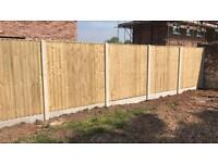 🌲High Quality Tanalised Wooden Garden Fence Panels