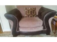 DFS Two seater sofa + Arm chair