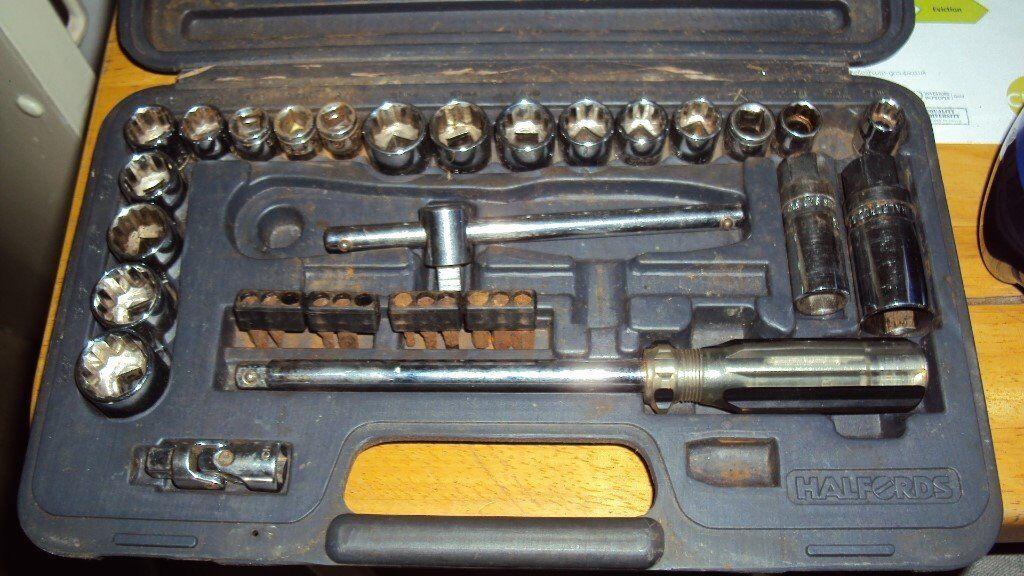 halfords socket set used