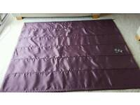 Purple roman blind from Dunelm blackout lining. 72 inches wide x 56 inches drop.