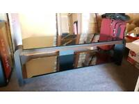 """John Lewis TV Stand up 50"""" Tv's with Glass Top and Dark Oak Trim RRP £400"""
