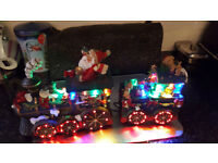 Santa's Express Illuminated Figurine Train