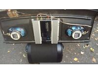 Kenwood sub/built in amp kenwood amp and 6x9s