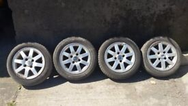 """14"""" Alloy Wheels with Tyres"""