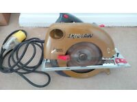 Skill Saw Classic 110v + Case + Spare Blade + 110v Extension Lead