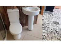 Ex display toilet fully back & basin+ped was £269 now £100