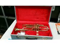 Antique cornet with mute in original case