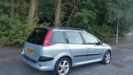 Peugeot 206 sw estate. 2003 . 1.6cc petrol