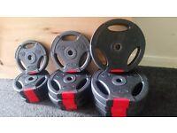 Body Power 35Kg Tri Grip Standard Weight Disc Plates