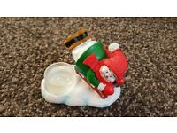 Xmas yankee candle tealight holder sleigh