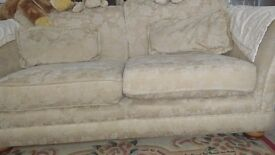 2 seater sofa and chair for sale