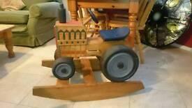 Solid wood tractor rocker