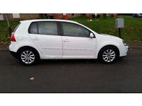 VOLKSWAGEN Golf Match TDI 1.9 105 White with Red Leather Interior