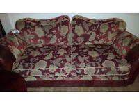 beautiful burgundy sofa