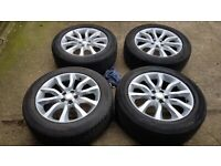 """4x 20"""" genuine Range Rover alloy wheels + 255/55R20 tyres - Land Rover Discovery"""