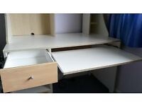 Roomy white IKEA desk / workstation, solid and sturdy, in very good condition