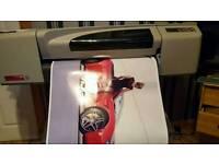 Hp designjet 24 inch large format canvas printer