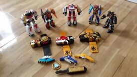 SMALL MEGAZORDS AND MORPHER COLLECTION