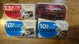 New Quality Single/Double/King Size Duvets 10.5/13.5 Tog