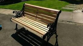 Cast iron bench garden seat chair
