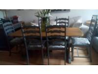 Stunning Refectory Dining Table and 6 Chairs