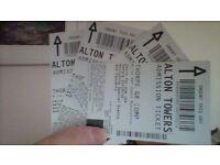 Alton Towers tickets x 4