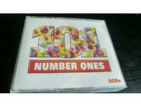 101 NUMBER ONE HITS.5 CDS BOX SET.AS NEW.