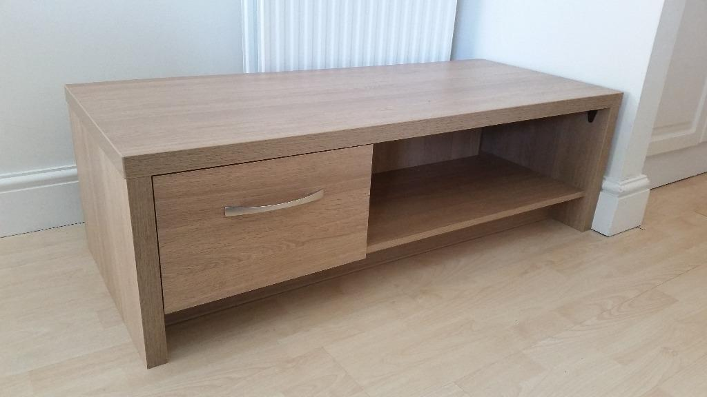 Coffee table tv unit with drawer oak effect in denham for Coffee tables gumtree london