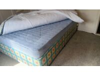 DOUBLE DIVAN BED AND MATTRESS IN GOOD CONDITION ONLY £40