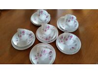 bone china cups, saucers and plates