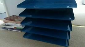 Desk tidy paper sorter