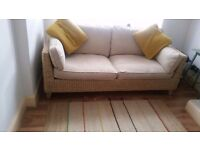 2 seater rattan cream sofa from m&s home. £120.00 ono.