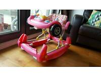 Mother Care Pink Baby Girl Car Walker and Rocker