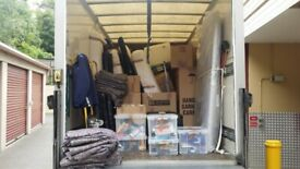 Local Man with van hire services, house move/Storage removals, collections, furniture, Handyman 24h