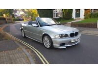 2002 BMW 330 CI CONVERTIBLE M SPORT AUTOMATIC SILVER GREY LEATHER FULL SERVICE HISTORY 12 MONTHS MOT