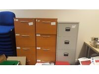 4 Drawer Wooden Filing Cabinet