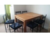 Dining Table + 6 chairs + 6 seat cushions