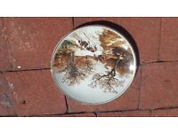 """POOLE POTTERY PLATE """"LANDSCAPE IN WINTER"""" AFTER PAINTING BY B.C. KOEKKOEK"""