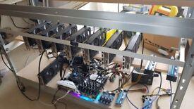 Crypto Mining Rig 8 NVidia 1070Ti Palit Dual GPU