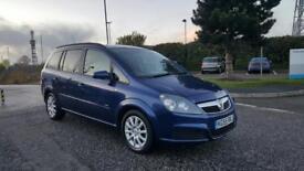 Vauxhall Zafira Club 1.6 Petrol 5 Door Mpv Blue 7 Seater